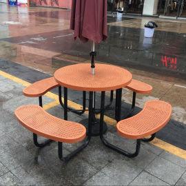 生产户外园区桌椅,花园休闲野餐台凳