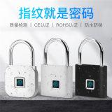 智慧指紋掛鎖防盜防水櫃子USB電子小掛鎖
