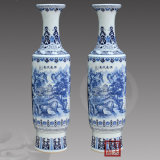 景德镇陶瓷器手绘青花瓷落地大花瓶客厅摆件酒店花瓶