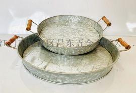 鍍鋅大铁盘,花园五金盘,铁皮盘,铁皮,木柄托盘