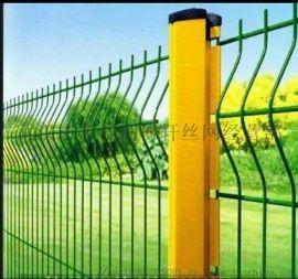 高速护栏网,双边丝护栏,浸塑护栏