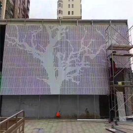 物业小区围墙穿孔铝板 白色穿孔铝板门头效果特征