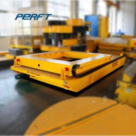 軋鋼設備轉運小車 膠輪電動平板車 蓄電池遙控轉臺
