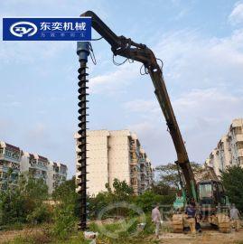 广西百色钻土机 基础孔挖机螺旋钻机