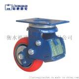 工位器具减震脚轮,6寸聚氨酯弹簧减震轮