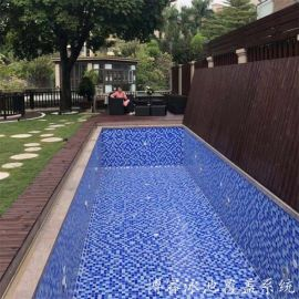 折疊泳池蓋  全自動遊泳池蓋  泳池蓋廠家
