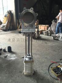 PZ673F-10P不锈钢气动刀闸阀