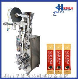 气动式量杯计量背封红糖姜茶颗粒定量灌装自动包装机