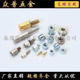 众普五金不锈钢非标紧固件连接件K帽多齿螺母加工定制
