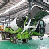 自上料攪拌車混泥土全自動一體式混凝土自動攪拌運輸車