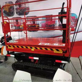 厂家定做园林移动升降梯 电动液压平台车