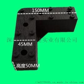 供應木紋黑色 塑料沙發腳 家具腳