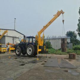 8吨拖拉机吊车 电线杆挖坑立杆一体机