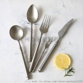 北京酒店用品西餐刀叉勺 陶瓷餐具 复古牛排刀叉