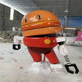 广州机器人主题餐厅雕塑 玻璃钢卡通雕塑造型