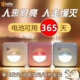 【廠家】省電節能雙區感應燈LED小夜燈樓道燈