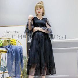 女装品牌折扣三宅一生  优雅气质型连衣裙视频看货