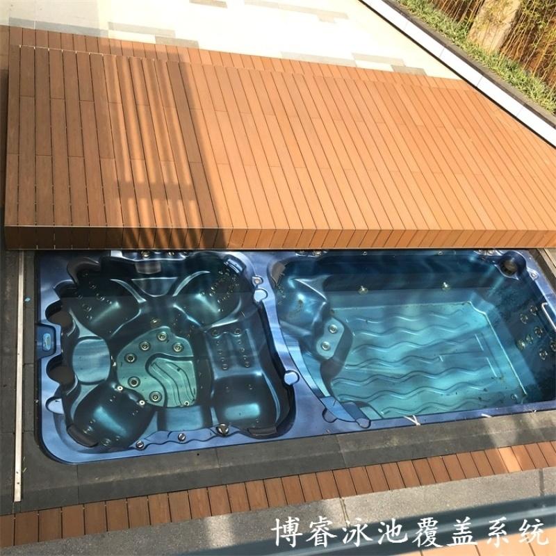 游泳池電動蓋板自動軌道游泳池蓋泳池蓋