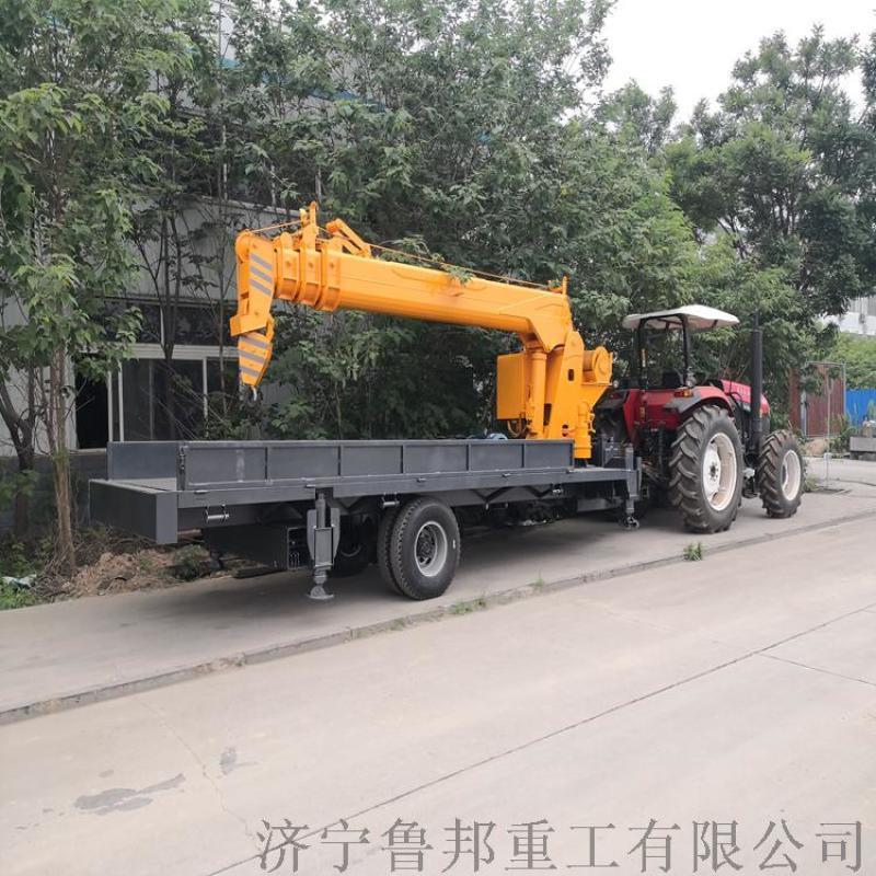 拖拉机平板随车吊 6吨拖拉机平板吊车