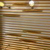 陝西仿木紋弧形線條鋁方通 防火吸音造型天花鋁方通
