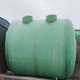 工业污水化粪池玻璃钢两格式净化池