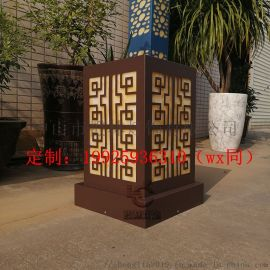 烤漆咖啡色柱头灯户外防水景观灯样板区展示灯