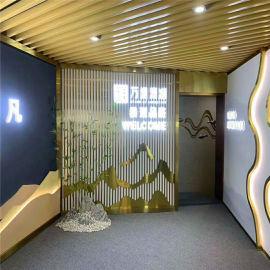 安徽工程外墙格栅铝管 仿木纹格栅铝型材管