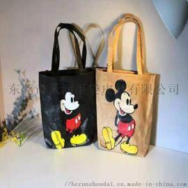 东莞工厂供应女式手提水洗杜邦纸购物袋单肩时尚环保袋