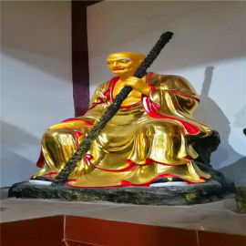 寺庙十八罗汉厂家,贴金彩绘坐像十八罗汉佛像厂家