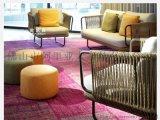 户外编藤编绳休闲户外沙发单人双人三人位美式沙发