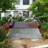 奔向未來雕塑雕塑廠家不鏽鋼奔向未來雕塑