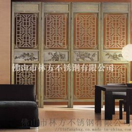 **不锈钢定制不锈钢加工各种制品 制造彩色不锈钢屏风 装饰屏风隔断