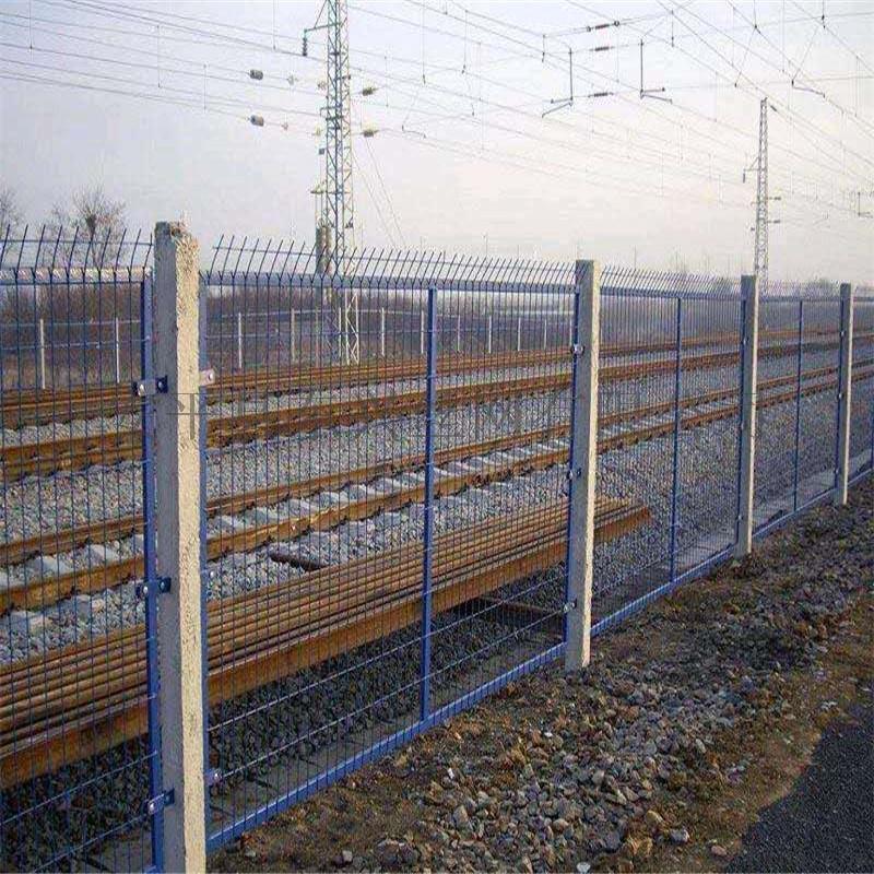 铁路护栏网/浸塑框架护栏网/墨绿高铁护栏网