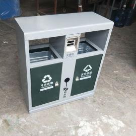 罗平县户外垃圾桶直销 金属垃圾箱 分类环卫垃圾桶