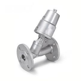 进口法兰气动角座阀-气体-不锈钢-单动式-双动式