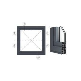 广东兴发铝材创高SO65X系列隔热节能中悬窗