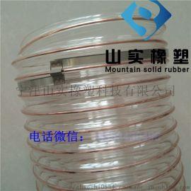 tpu塑料软管钢丝塑料PU软管透明PU钢丝吸尘软管