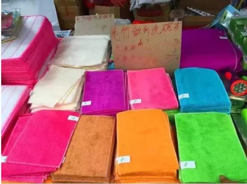 10元模式洗碗布,竹纤维棉纱丝瓜布洗碗抹布各种材质都有 小本创业
