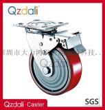 重型鍍鋅鐵芯PU腳輪帶剎車