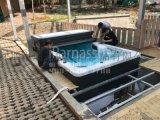 陝西西安私家別墅成品室內無邊際層流系統遊泳池