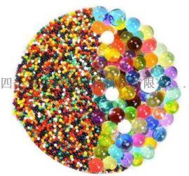 厂家供应吸水树脂泡大弹珠海绵宝宝水晶泥