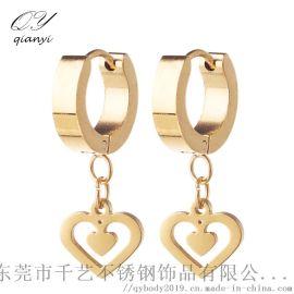 千艺新款时尚18k镀金耳环