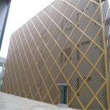 遊樂場圓形造型鋁單板 鈦金黑透光衝孔鋁單板外牆