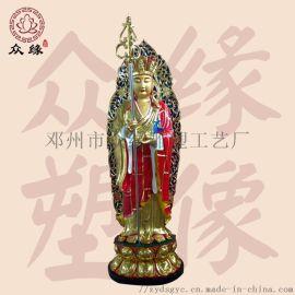 佛教菩萨 地藏王佛像定制 树脂雕塑地藏王