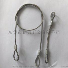 钢丝绳索具压环端子安全绳钢丝绳配件