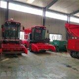 玉米秸稈收割一體機 秸稈粉碎青貯機 自走式青儲機