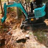 挖樹小挖機 鏈式開溝機鏈條 六九重工 工地挖溝用的
