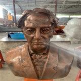 定制江门校园名人肖像雕塑 玻璃钢名人头像雕塑