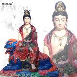 观音菩萨神像 文殊菩萨 普贤菩萨 玻璃钢佛像