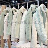 艾米19年冬季颗粒绒大衣 品牌折扣女装货源